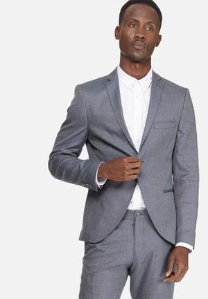 Selected Homme Louame Slim Blazer Jackets & Coats Grey