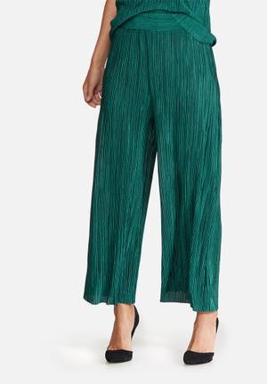 Dailyfriday Plissé Culottes Trousers Green