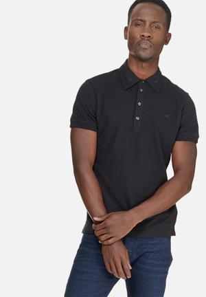 Diesel  T-klark Polo Shirt T-Shirts & Vests Black