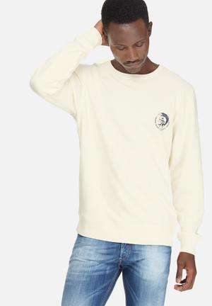 Diesel  Willy Sweat Shirt Hoodies & Sweatshirts White & Black