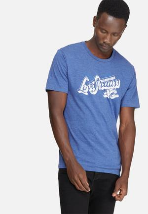 Levi's® Wordmark Graphic Tee T-Shirts & Vests Blue & White