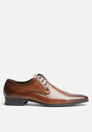Gino Paoli Didier Derby Formal Shoes Tan