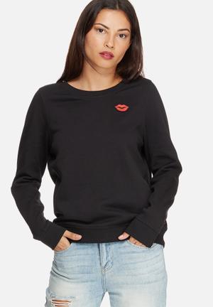 Vero Moda Annie Sweat T-Shirts, Vests & Camis Black