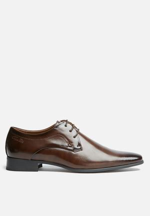 Gino Paoli Didier Derby Formal Shoes Brown