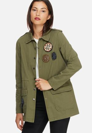 Vero Moda Maya Army Jacket Green
