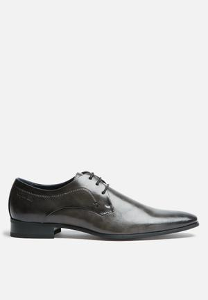 Gino Paoli Didier Derby Formal Shoes Charcoal