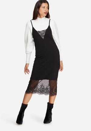 Noisy May Lana Lace Dress Occasion Black