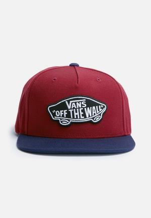 Vans Classic Patch Snapback Headwear Red & Navy