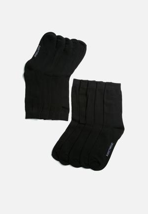 Basicthread Plain Socks - 5 Pack Black
