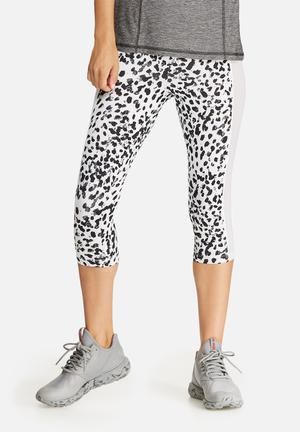 Southbeach  Leopard Mesh Insert Legging Bottoms Black & White