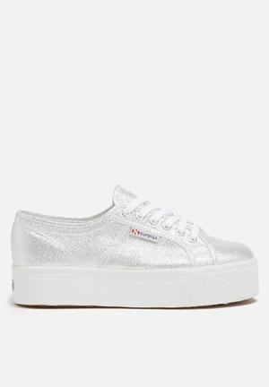 SUPERGA Superga 2790 Lamew Glitter Wedge Sneakers Silver Glitter