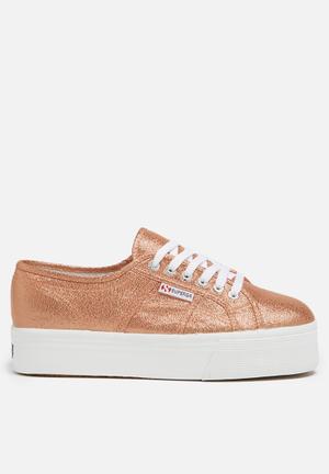 SUPERGA Superga 2790 Lamew Glitter Wedge Sneakers Rose Gold