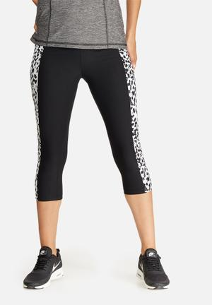 Southbeach  Leopard Legging Bottoms Black & White