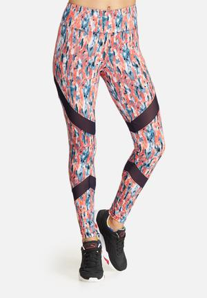 Southbeach  Splash All Over Leggings Bottoms Coral, Navy & White