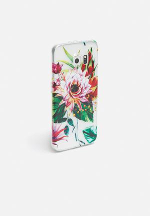 Hey Casey Dragon Flower - IPhone & Samsung Cover Clear, Green, Purple & Pink