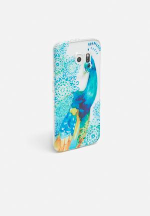 Hey Casey Pretty Peacock - IPhone & Samsung Cover Blue, Green & Yellow