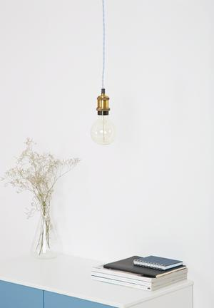 Sixth Floor Cameron Pendant Light Lighting Brass & Cord