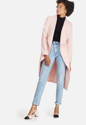 Dailyfriday Melton Wrap Coat Pink