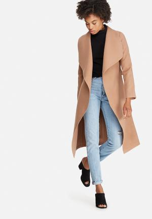 Dailyfriday Melton Wrap Coat Brown