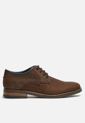 Basicthread Scotty Leather Derby Formal Shoes Brown