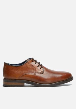 Basicthread Scotty Leather Derby Formal Shoes Dark Tan