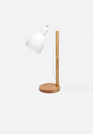 Sixth Floor Emile Table Lamp Lighting Wood & Metal