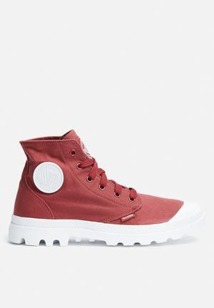Palladium Blanc Hi Boots Maroon