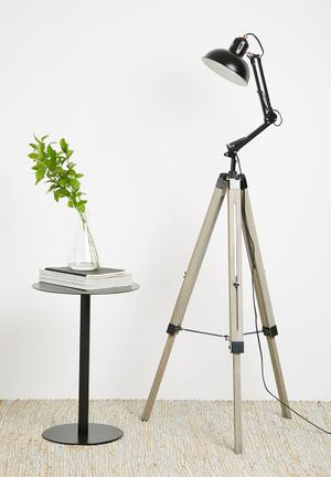Sixth Floor Devon Tripod Floor Lamp Lighting Wood & Metal