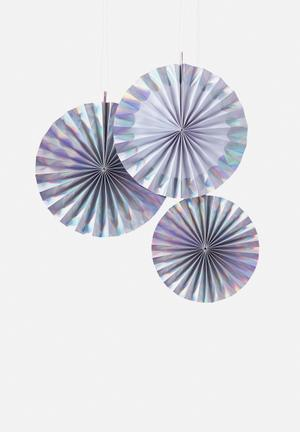 Ginger Ray Fan Decorations Partyware Paper