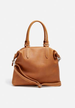 FSP Collection Stephie Leather Tote Bags & Purses Tan