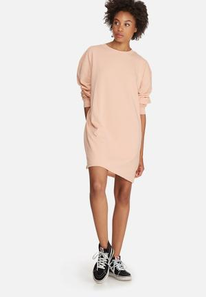 Missguided Oversized Sweat Dress Casual Pink