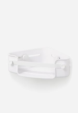 Umbra Flex Gel Lock Corner Bin Bath Accessories ABS & Silicone