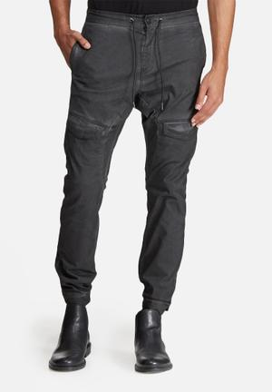 Sergeant Pepper Dyed Slim Utility Pants Charcoal