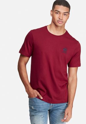 Reebok Classic Starcrest Tee T-Shirts Burgundy & Blue