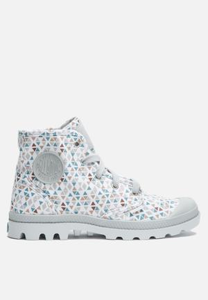 Palladium Pampa Hi Boots White & Grey