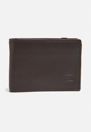 G-Star RAW Cart Leather Wallet Dark Brown
