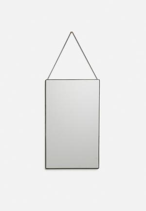 Arkivio Rectangular Mirror - Black Accessories Mirror