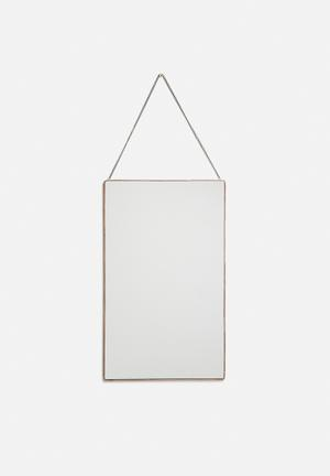 Arkivio Rectangular Mirror - Copper Accessories Mirror