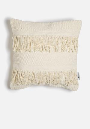 Sixth Floor Fringe Knot Cushion Cover 100% Cotton