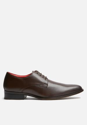 Watson Shoes Marlin Leather Derby Formal Shoes Brown