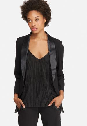 Dailyfriday Tuxedo Blazer Jackets Black