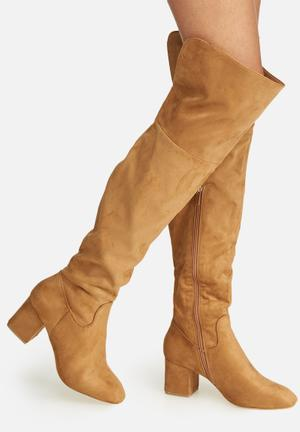 Dailyfriday Over The Knee Boot Tan