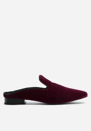 Sol Sana Rocco Loafer Slide Pumps & Flats Burgundy