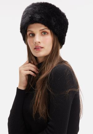 Dailyfriday Faux Fur Hat Headwear Black