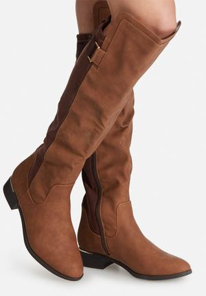 Call It Spring Boxley Boots Brown & Tan