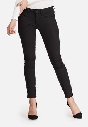 G-Star RAW 3301 Deconstructed Mid Skinny Jeans Black