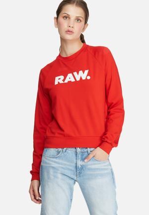 G-Star RAW Xula Straight Sweat T-Shirts, Vests & Camis Red & White