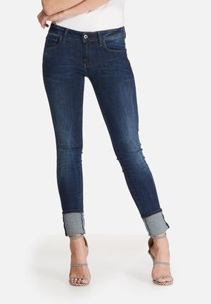 G-Star RAW 3301 Deconstructed Mid Skinny Jeans Blue