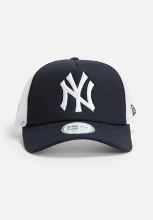 New Era Trucker NY Yankees Headwear Navy & White