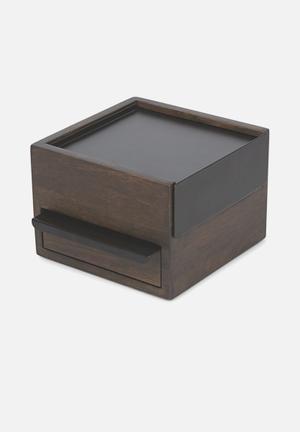 Umbra Mini Stowit Jewellery Box Organisers & Storage Wood & Metal